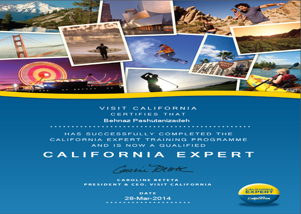 how to become a certified travel agent in california