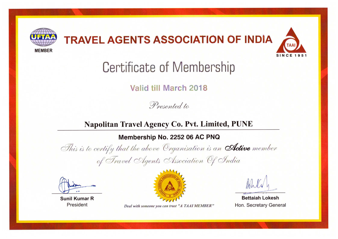 Certified Accredited International Travel Agent In Pune